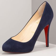 14e65ad37ca1 Cheap Christian Louboutin Delic Suede Pump Navy Knockoffs For Sale