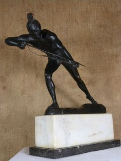 Bronze, nackter Krieger von Schmidt-Hofer....
