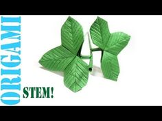 Origami Daily - 485: Stem & Assembly (Flowers & Roses) - TCGames [HD]!