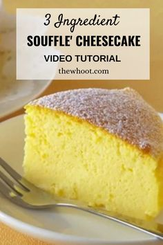 3 Ingredient Cheesecake Japanese Souffle Video Tutorial Japanese Cheesecake 3 Ingredients, 3 Ingredient Cheesecake, Japanese Cheesecake Recipes, Souffle Cheesecake Recipe, Souffle Recipes, Brownie Cheesecake, Low Carb Desserts, Easy Desserts, Dessert Recipes