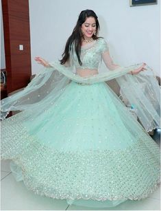 Glam up your looks with our latest lehenga collection. Buy bridal, party lehengas & designer chaniya cholis online in awesome designs fabrics at Best Prices. Gown Party Wear, Party Wear Indian Dresses, Designer Party Wear Dresses, Indian Gowns Dresses, Indian Bridal Outfits, Party Wear Lehenga, Indian Fashion Dresses, Dress Indian Style, Indian Designer Outfits