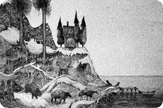 """""""The Inlands"""", by Ane Elene Johansen. Pencil drawing, 2012."""