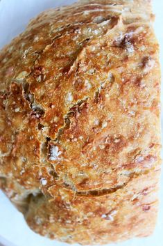 No-Knead Oatmeal Bread - Oatmeal, Yeast, Flour, Salt Artisan Bread Recipes, Dutch Oven Recipes, Bread Machine Recipes, Easy Bread Recipes, Baking Recipes, Cornbread Recipes, Jiffy Cornbread, Oatmeal Bread Recipe, Knead Bread Recipe