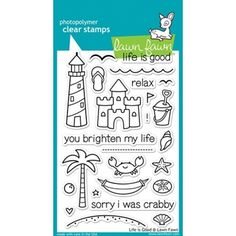 Lawn Fawn LIFE IS GOOD Clear Stamps Simon Says Stamp Hammocks