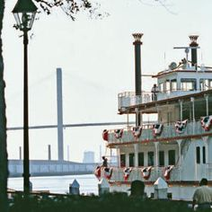 Rollin' on the River  River Street-revitalized with shops, restaurants, and year-round festivals-anchors Savannah's historic waterfront.