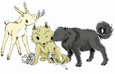 Photo: By their fifth year, Sirius was able to become a dog, and James was able to become a stag, animals large enough to keep the wolfish Remus in check. Peter, meanwhile, was able to become a rat. Under their influence, Lupin became tame; his body was still a wolf's, but his mind became less so when he was among them.
