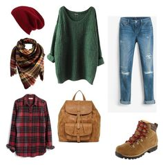 Trip to Scotland by julie-lg on Polyvore featuring polyvore fashion style Madewell White House Black Market Sole Society Peach Couture Halogen L.L.Bean clothing