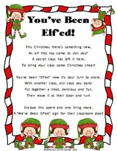 Been Elf'ed - A Fun Christmas Activity - Elementary School Garden - You've Been Elf'ed - A Fun Christmas Activity - Elementary School Garden -