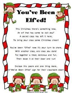 You've Been Elf'ed - A Fun Christmas Activity - Elementary School Garden - TeachersPayTeachers.com