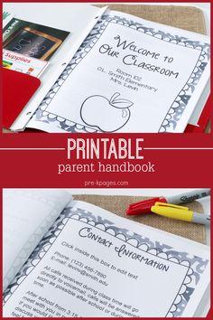 Printable Parent Handbook