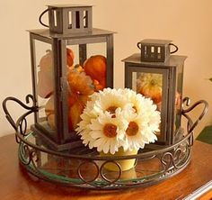 DIY -Welcome the Fall with Merry Decorations for Your Coffee Table fall coffee table displays Coffee Table Centerpieces, Decorating Coffee Tables, Candle Arrangements, Centerpiece Ideas, Fall Home Decor, Autumn Home, Fall Vignettes, Autumn Decorating, Decorating Ideas