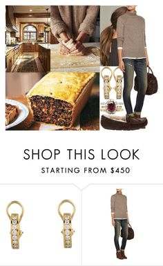"""""""Getting up early and making Black Buns for their dinner in the evening"""" by marywindsor ❤ liked on Polyvore featuring Tiffany & Co., Line and UGG Australia"""