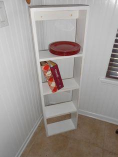 White Display Shelf  Kitchen Organizer  Wall Mount by AtticJoys1