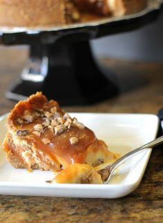 Toffee Caramel Cheesecake from Bakerita.com
