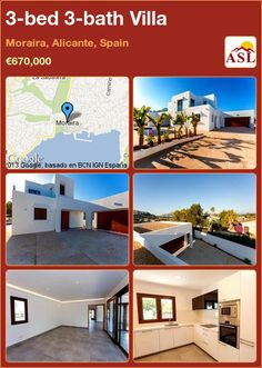 3-bed 3-bath Villa in Moraira, Alicante, Spain ►€670,000 #PropertyForSaleInSpain