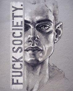 Elliot. By Sashajoe on Deviantart. #MrRobot #elliotalderson #art #fanart