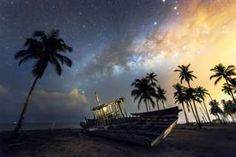 Sparkling starscapes caught on camera - BBC News - This image, of an abandoned boat underneath the Milky Way, was taken on a trip back to Chow's hometown, Terengganu, which looks out to the South China Sea.