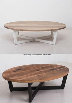 Mesa r a tona Wood Pallet Furniture, Table Furniture, Furniture Design, Diy Coffee Table, Coffee Table Design, Metal Outdoor Table, Mesa Oval, Table Decor Living Room, Center Table