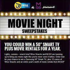 Win a 50″ Smart TV and movie rentals for a year!