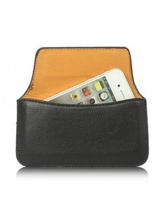 Δερμάτινη Θήκη Flip (12.8 x 6.8 x 1.3cm) για iPhone 5 5s 5c 4S 4 3GS / iPod Touch / Samsung Galaxy Ace 2 I8160 / Sony Xperia Go ST27i