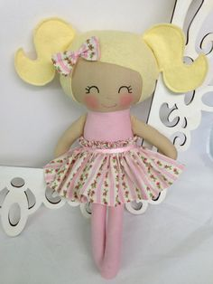 Cloth Doll Fabric Dolls Soft Doll Handmade Doll by SewManyPretties