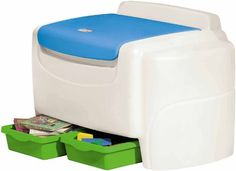 Little Tikes Bright 'N Bold Toy Chest - Green/Blue, 2015 Amazon Top Rated Toy Chests & Storage #Toy