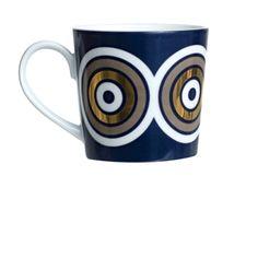 mug with gold circles
