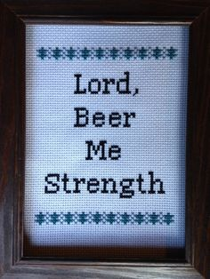 The Office Cross Stitch Pattern Lord Beer by jgainesartsandcrafts, $3.00