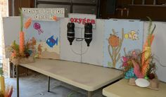 "Part of the ""Underwater Observation Deck"" we made out of cardboard for this year's VBS!"