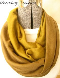 Earthy  brown infinity scarf- olive green, brown, scarf, jersey knit, circle scarf, free shipping #etsy  #gifts
