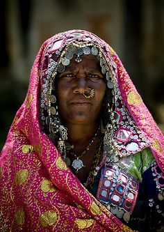 Veiled Indian gypsy woman - India | Flickr - Photo Sharing!
