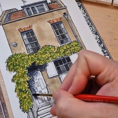 """Phil Maltz on Instagram: """"Watercolour added to my sketch of a house in Whitechapel, East London. Slightly delayed putting this video together as I've been updating…"""" Watercolour Art, East London, Sketch, Ads, Photo And Video, Videos, House, Instagram, Sketch Drawing"""
