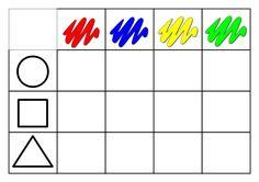 TAULER PER CLASIFICAR BLOCS LOGICS Preschool Learning Activities, Toddler Learning, Preschool Kindergarten, Book Activities, Shapes For Toddlers, Emoji Drawings, Montessori Materials, School Readiness, Math For Kids