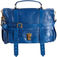 Proenza Schouler PS1 Large Leather Mailbag Satchel in Peacock at Barneys.com