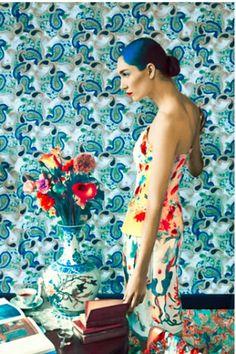 ph Erik Madigan Heck for Mary Katrantzou's Fall 2011 collection