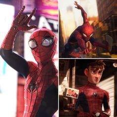 This spectacular fan art is movie quality 😵 (via julen. Spiderman 2002, Spiderman Theme, My Superhero, Amazing Spiderman, Spectacular Spider Man, Silver Age Comics, Spider Verse, American Comics, Marvel Memes
