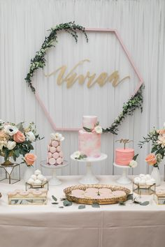 A modern and feminine take on a honeybee first birthday 🍯 Thank you to my lovely client for being so trusting of us and also creating the… 1st Birthday Party For Girls, Birthday Table, Birthday Thank You, Birthday Party Decorations, Birthday Parties, Tea Party Baby Shower, Floral Baby Shower, Bridal Shower, Baby Shower Balloons
