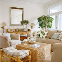 No focal point? Add a console table and mirror.