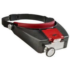 Illumniated multi power LED bonehead magnifier