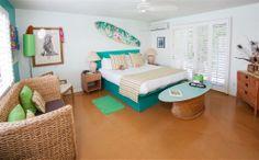 Hawaiian surf bedroom.