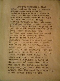 Looking Through a Tear, circa 1988 by andybullock77, via Flickr