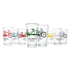 Look what I found at UncommonGoods: Personalized Tandem Bike Tumblers - Set of 8 for $120 #uncommongoods