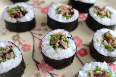 Mushroom and Rocket Sushi