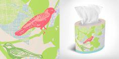 Love the Kleenex® Expressions-Little Bird to brighten up rooms in springtime!