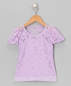 Look at this Share n' Smiles Lavender Lace Tee & Camisole - Toddler & Girls on #zulily today!