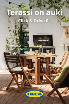 Outdoor Chairs, Outdoor Furniture Sets, Outdoor Decor, Ikea, Campaign, Aesthetics, Kitchen, House, Home Decor