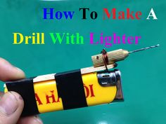How to make a drill that drill plastic using a lighter