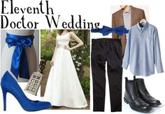 Doctor Who-themed wedding  TARDIS/Eleventh Doctor    Bridal party dress,