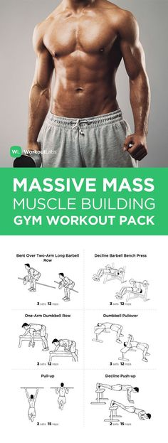 Visit WorkoutLabs.com/... to download this Massive Mass Muscle Building Gym Workout Pack for Men