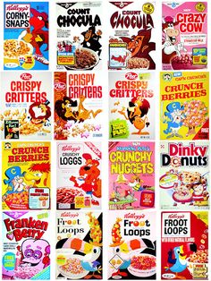 Crazy Cow:  colored your milk.  loved it.  Count Chocula, Frenken Berry, Crunch Berries... loved them all.